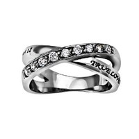 "Christian Womens Stainless Steel Abstinence 1 Timothy 4:12 ""True Love Waits"" Radiance Chastity Ring for Girls - Girls Purity Ring - Comfort Fit Ring"
