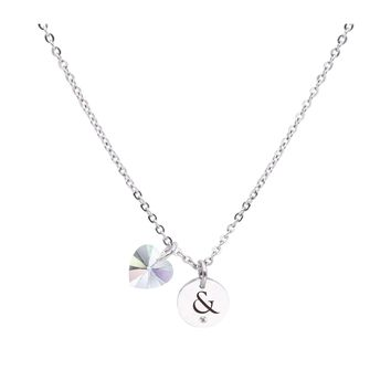 Dainty Inspirational Necklace made with Crystals from Swarovski  - AMPERSAND