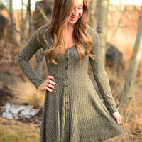 Heart Hope Dress - Olive