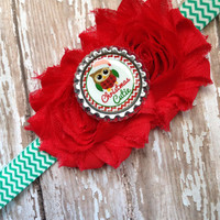 Christmas cutie owl headband ready to ship!