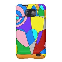 Retro Colorful Abstract Samsung Galaxy S2 Case