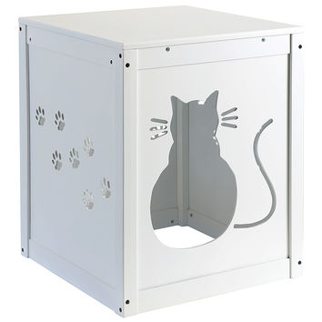 Wooden Cat Hideaway House / Litter Box Cover