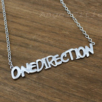 One Direction Necklace,Infinity Forever Directioner---Silver Charm Necklace,Best Gift-bridesmaid gift,friendship christmas gift