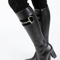 Abby Lace Accent Short Knit Legwarmers in Black