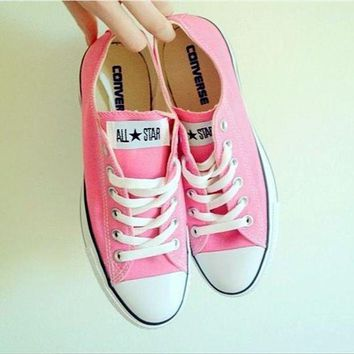 CREYUG7 Adult Converse All Star Sneakers Low-Top Leisure shoes Pink