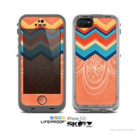 The Orange Dreamcatcher Chevron Skin for the Apple iPhone 5c LifeProof Case