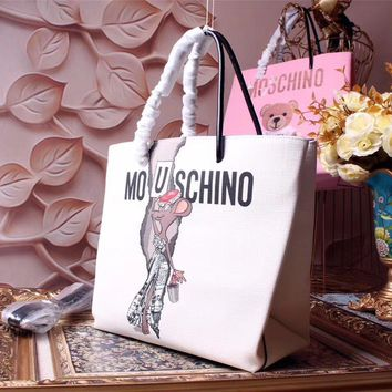 Moschino Teddy Beer Leather Shopping Bag #42371 - Best Deal Online