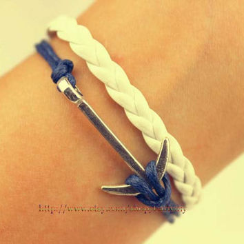 Wax anchor rope alloy bracelet - the best gift of friendship