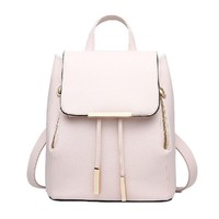 Catkit Casual Preppy Style Womens Tote Handbag Girls School Shoulder Bag Backpack Beige