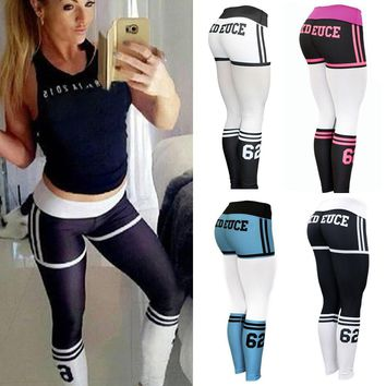 Old School High Socks Style Workout Leggings