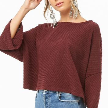 Ribbed Cuffed Sweater