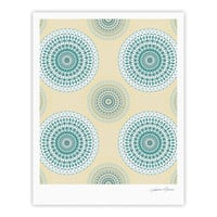 "Julia Grifol ""Soft Mandalas"" Green Yellow Fine Art Gallery Print"