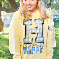 JADELYNN BROOKE: H is for Happy Sweatshirt
