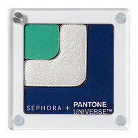SEPHORA+PANTONE UNIVERSE Color Theory Shadow Block - Bionic (Emerald, White Asylum, Crown Blue)