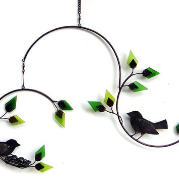 Birds on a Tree Branch Hanging Mobile