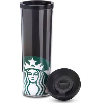 STARBUCKS LIBERTY LADY Tumbler Coffee/Tea commuting Mug FLASK / DRINKWARE WITH SEALING LID (CHOCOLATE/SILVER)