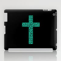 Mint Leopard Cross iPad Case by M Studio - iPad 2nd, 3rd, 4th Gen, and iPad Mini