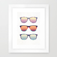 PUT YOUR GLASSES ON ...  Framed Art Print by Nika