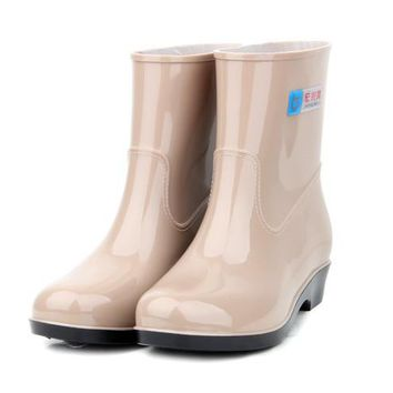 Free shipping girl water shoes rain boots female Korean spring and autumn rubber boot