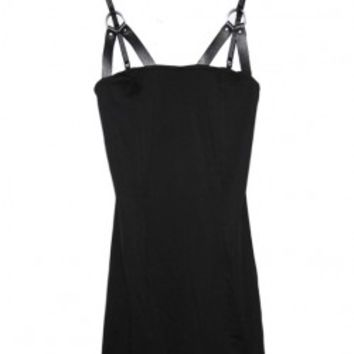Black Ring Sling Dress