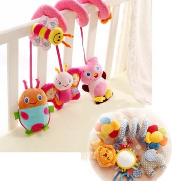 2Style Baby Toys Cute Musical Elephant Butterfly Multifunctional Crib Hanging Bed Bell Educational Toys Rattles for Kids