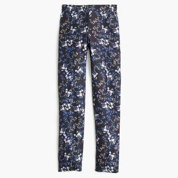 J.Crew Womens Collection Silk Trouser In Nightfall Freesia