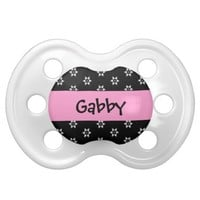 Little Flowers Baby Girl Custom Name P544F Pacifiers