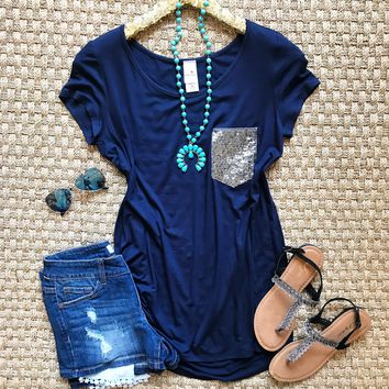Pocket Full Of Sequins Tunic Top