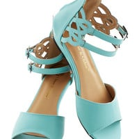 ModCloth Sarasota Fountain Sandal in Mint