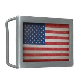 Vintage American Flag Belt Buckle