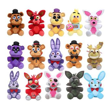 25cm   at  Bonnie Chica cupcake Foxy Golden Freddy Fazbear Nightmare Sister Location Kids Plush Toys