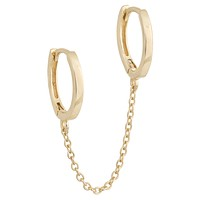Solid Double Chain Huggie Earring