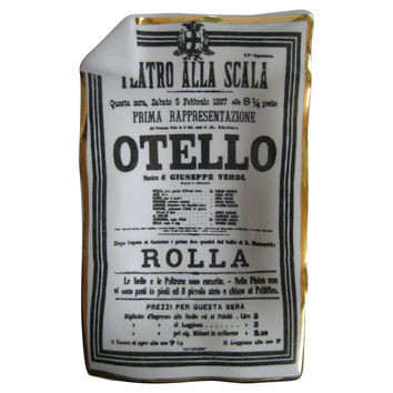 Fornasetti Otello Tray With Original Box