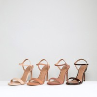 ASOS HANDS DOWN Barely There Heeled Sandals at asos.com