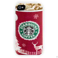 Starbucks Dark Cherry Mocha Cover For iPhone 4 / 4S Case