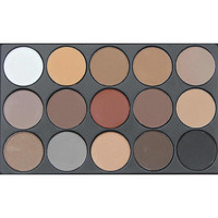 15 Earth Colors, Glitter Eyeshadow, Natural Matte Palette