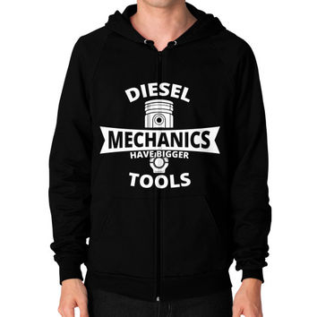 Diesel mechanics Zip Hoodie (on man)