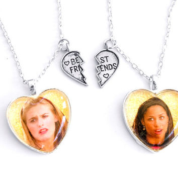 Clueless Friendship Necklaces / Cher and Dionne / 90s Movie BFF Necklaces