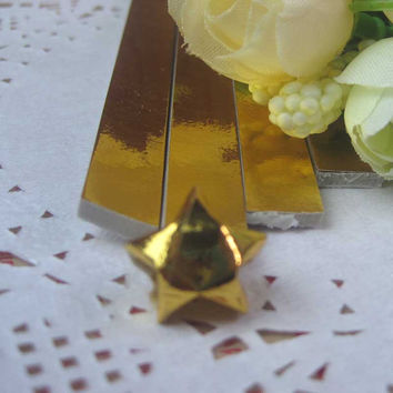 Origami Folding Paper / Lucky Star Paper / Favour Strips Colors / Metallic Gold Bling 90 Stripes