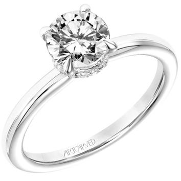 "Artcarved ""Erin"" Solitaire High Polish Classic Diamond Engagement Ring"
