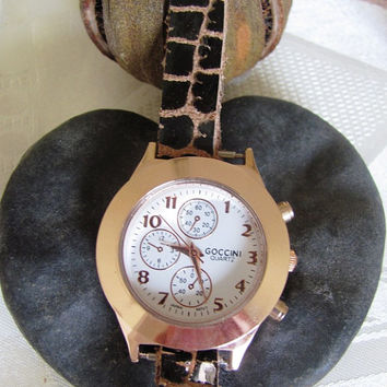 Stylish Lady Bronze Wrist Watch FREE SHIPPING