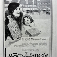 Eau de Cologne 4711 vintage advertising print, original art deco advertisement from 1932