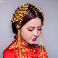 Chinese Wedding Double Hairpieces for Kwa Qun