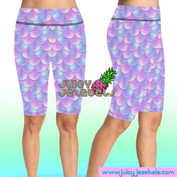 CRAZY SCALES Rave Shorts Bike Shorts Cycling Shorts High Waisted Shorts Rave Clothing Music Festival Clothing Rave Outfit Rave Wear