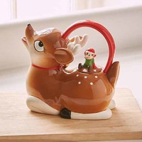 Holiday Deer Teapot