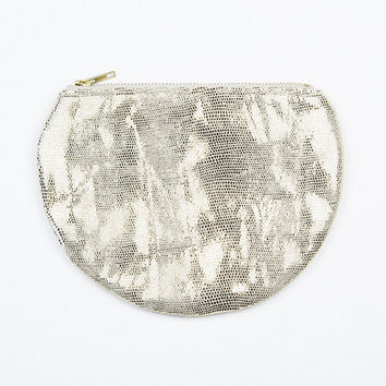 Leather Pearl Pouch
