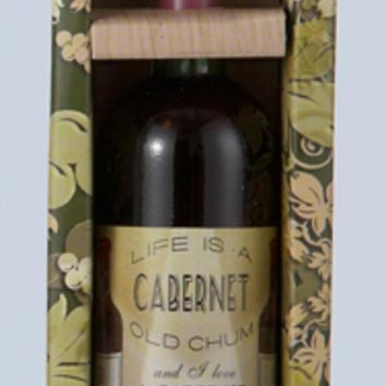 """5"""" Tuscan Winery Cabernet Wine Bottle Gift Box Christmas Ornament"""