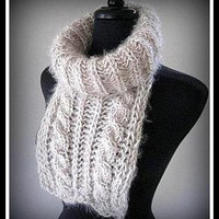 Knit Chunky Cowl Unisex Cable Knit Neckwarmer Scarf Turtle Neck Cowl Women Men Clothing Winter Accessories Gift Ideas