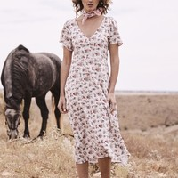 Roxy Lady Dress 90s Ditsy Floral - Pale Pink // PRE ORDER