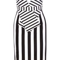 Cushnie et Ochs - Strapless striped tech-jersey dress